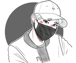 black and white, k-pop, and style image