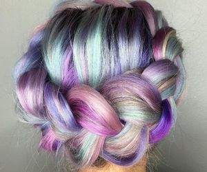 hair and color image