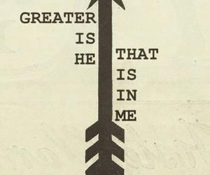 god, arrow, and bible image