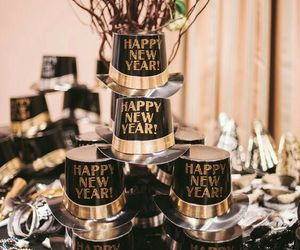 new year, party, and decorations image