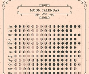 moon, calendar, and 2017 image