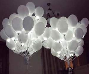 balloons, white, and light image