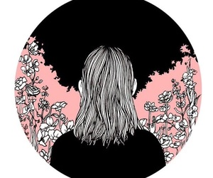 art, drawing, and pink image