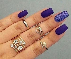 nails, design, and long image