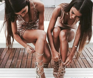 girls, shoes, and fashion image