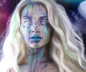 makeup, Halloween, and mykie image