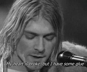nirvana, kurt cobain, and heart image