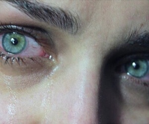 eyes, sad, and tears image