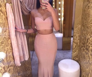 fashion, pink, and bodycon image
