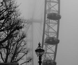 fog, london, and london eye image