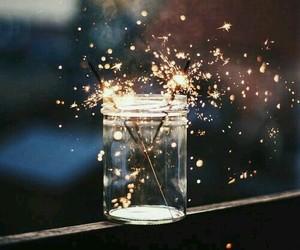 jar, lights, and sparks image