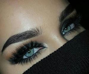 beautiful, face, and mascara image
