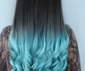 hair, blue, and black image