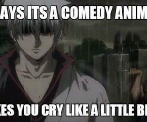anime, gintama, and sad image