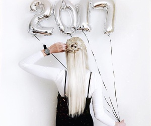 2017, balloons, and silver image