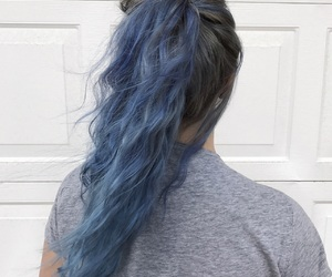 aesthetic, blue, and curly image