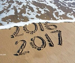 2017, new year, and beach image