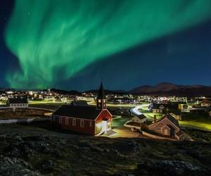 aurora borealis, greenland, and northern lights image
