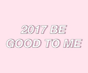 new year, pink, and 2017 image