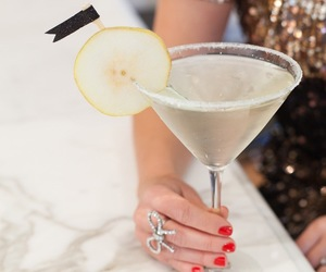 drink, nails, and ring image