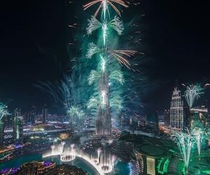 Dubai, fireworks, and photography image