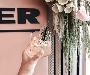 cocktail and flowers image