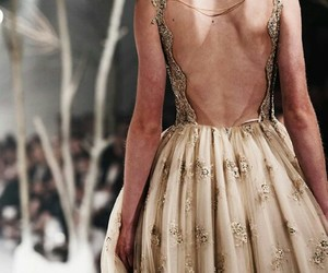 details, runway model, and outfit dress image
