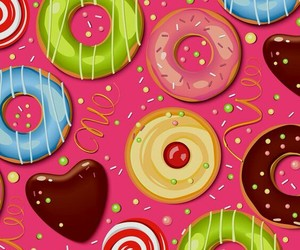 wallpaper, sweet, and donuts image