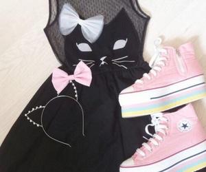 cat, fashion, and dress image