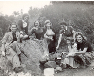 camping, girls, and happy image