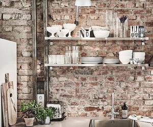 bricks, wood, and decor image