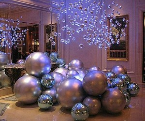 ornaments, purple, and party image