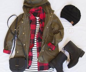 boots, jacket, and bag image