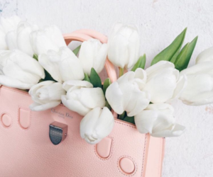 flowers, white, and dior image