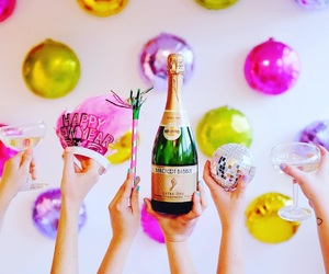 champagne and new year image