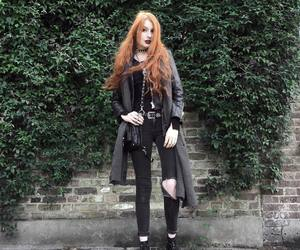 fashion, orange hair, and goth image