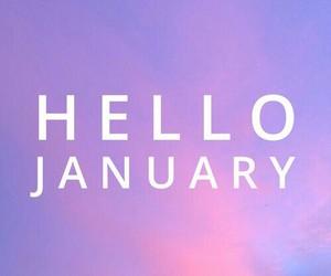 january, hello, and purple image