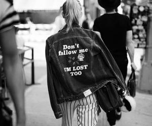 jacket, girl, and denim image