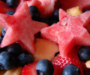 fruit, food, and stars image