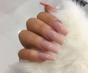 faux fur, Nude, and nails image