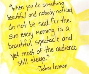 quotes, sun, and john lennon image