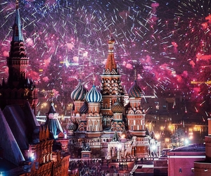 colorful, moscow, and Red Square image