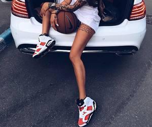 girl, Basketball, and jordan image