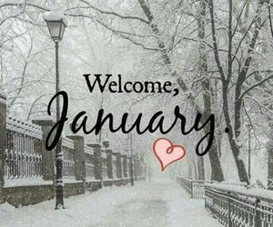 january, snow, and welcome image