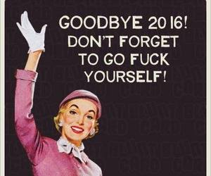 funny, happy new year, and sarcasm image
