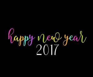 black, colorful, and happy new year image