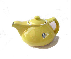 Ceramic, kettle, and yellow image