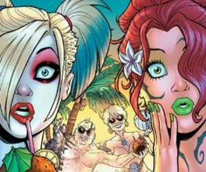 harley quinn, DC, and poison ivy image
