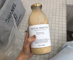 drink, chanel, and milk image