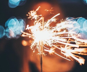 aesthetic, fireworks, and landscape image